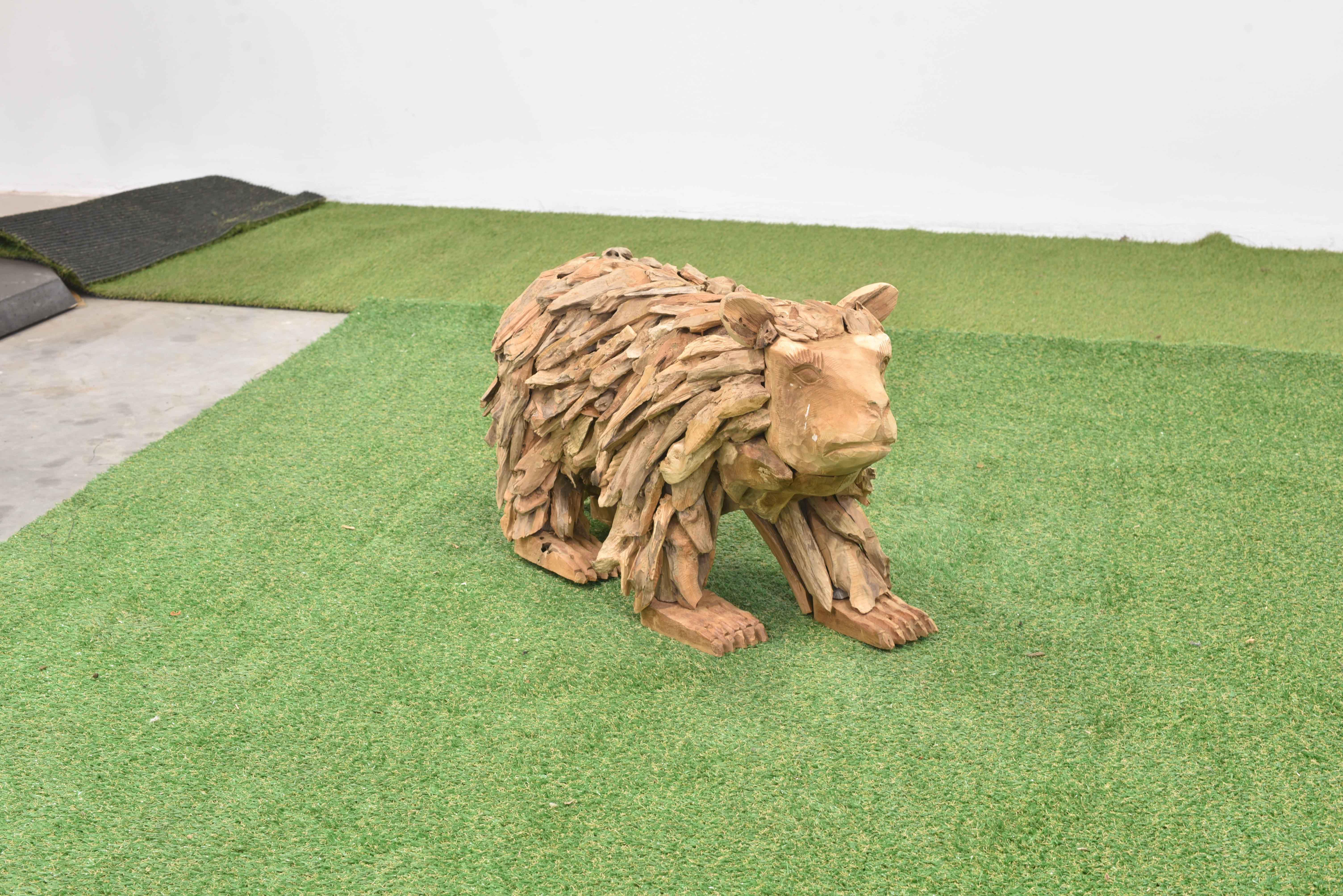 Teak-Holz Bär