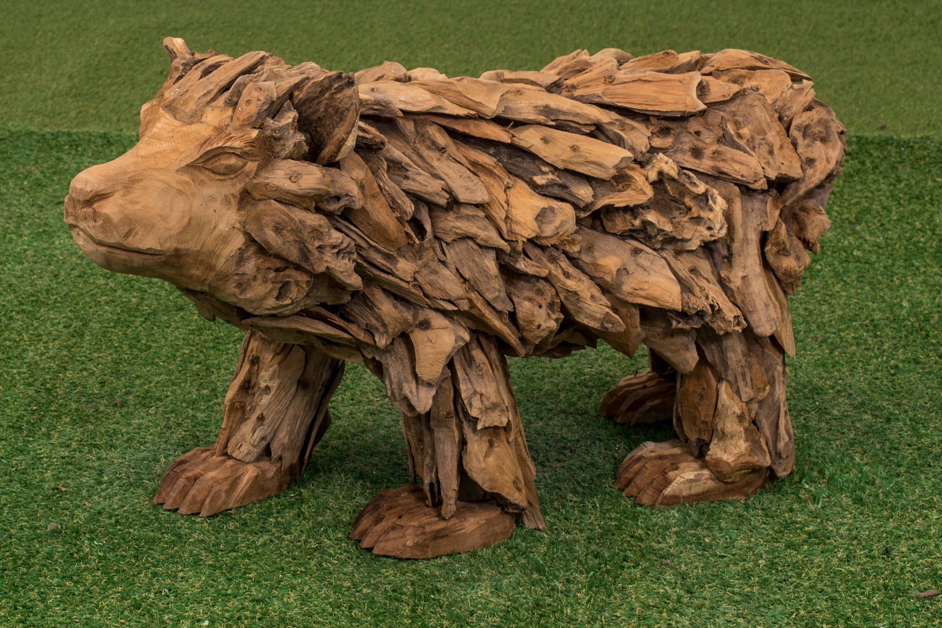 Teak-Holz Figur