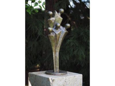 Moderne Figur, Abstrakte Skulptur aus Bronze